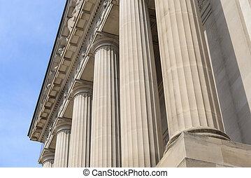 기둥, 또는, 란, 푸른 하늘