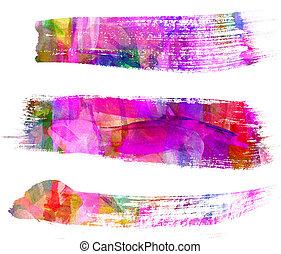기름, 떼어내다, stroke., freehand, painting., 그림, 솔