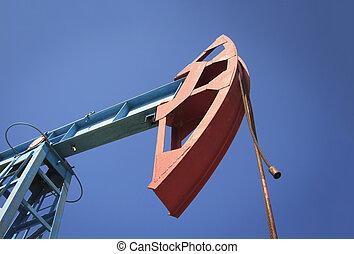 기름, 일, 들판, 펌프 잭