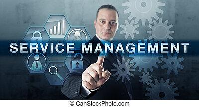 기업가, 압착하기, 서비스, 관리