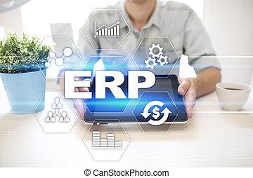 기업, 자원, 계획, 비즈니스와 기술, concept.
