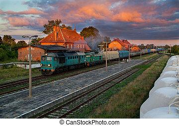 기차, 디젤, 화물