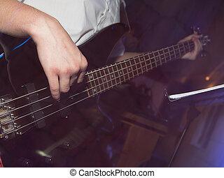 기타, 밴드, 음악가, 노는 것, 바위