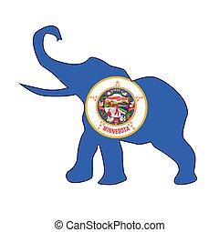 기, 공화당원, 미네소타, 코끼리