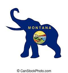 기, 공화당원, montana, 코끼리