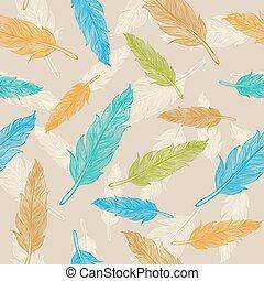 깃털, 패턴