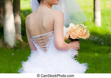 꽃다발, 보유, 신부, 결혼식
