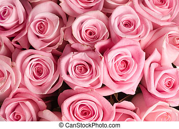 꽃다발, 크게, 장미