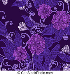 꽃의, 꾸밈이다, seamless, pattern.