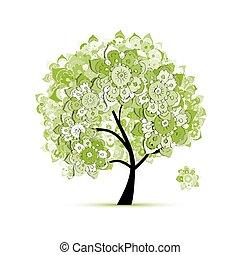 꽃의, 나무, 치고는, 너의, 디자인