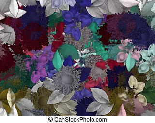꽃의, 배경 패턴