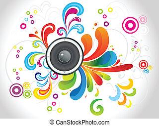 꽃의, 소리, 떼어내다, 다채로운