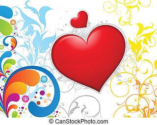 꽃의, 심장, 떼어내다, 다채로운