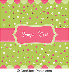 꽃의, 아기, seamless, 카드, 패턴