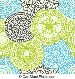 꽃의, 유행, seamless, 패턴