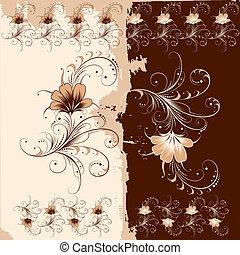 꽃의, 장식, 패턴