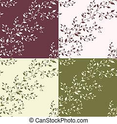꽃의, 포도 수확, seamless, 패턴