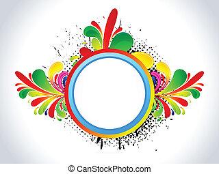 꽃의, grung, 떼어내다, 다채로운