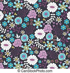 꽃의, seamless, 패턴, 벡터