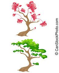 꽃피는 나무, 녹색