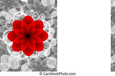 꽃, 공상에 잠기는, 배경
