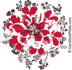 꽃, 삽화