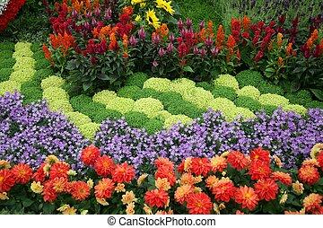 꽃, 정원