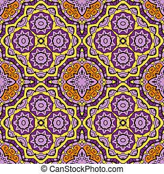 꾸밈이다, 둥근, seamless, 패턴, 와, 많은, 세부
