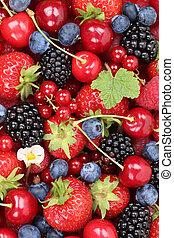 나무딸기, 버찌, 장과, 배경, 과일, 딸기