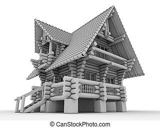 나무로 되는 집