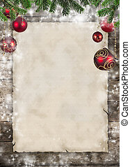 나무로 되는 판자, 주제, 종이, 공백, 크리스마스