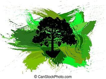 나무의실루엣