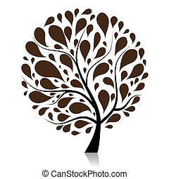나무, 너의, 예술, 디자인, 아름다운