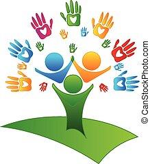 나무, 손, 와..., 심혼, 은 계산한다, 로고