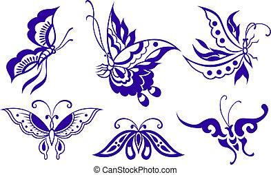 나비, 삽화