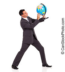 나이 적은 편의, 실업가, 보유, a, 지구