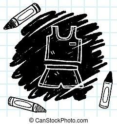낙서, 스포츠, 천