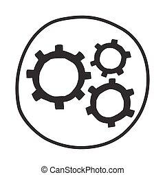 낙서, icon., 은 설치한다
