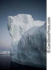 남극, 빙산