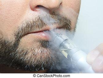 남자 연기가 남, 전자의, sigarette