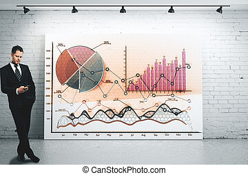 남자, 와, 사업, 도표