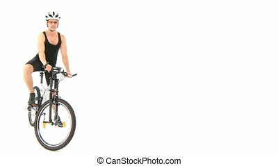 남자, 와, 자전거