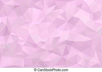 낮은, poly, 공상에 잠기는, 핑크, 제비꽃, 배경