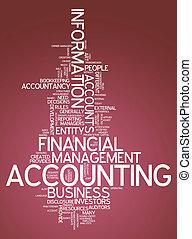 """낱말, 구름, """"accounting"""""""