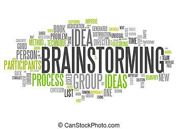 """낱말, 구름, """"brainstorming"""""""