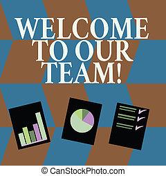 낱말, 쓰기, 원본, 환영, 에, 우리, team., 사업 개념, 치고는, 소개하는 것, 또 하나의,...