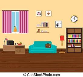 내부, 현대, 와..., 유행, 방