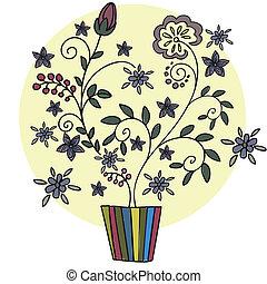 냄비 따위 하나 가득, 꽃