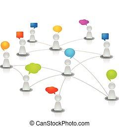 네트워크, 인간