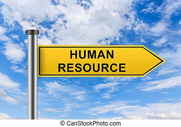 노란 도로, 표시, 와, 인간, 자원, 낱말